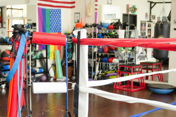 boxing ring at rock steady boxing seattle