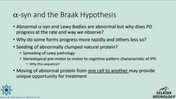Slide about a-syn and the Braak Hypothesis